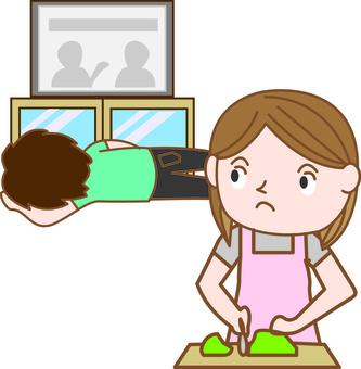 家事に不満を持つ主婦