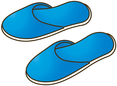 Vinyl slippers blue