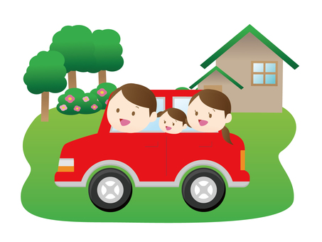 Family to go out by car