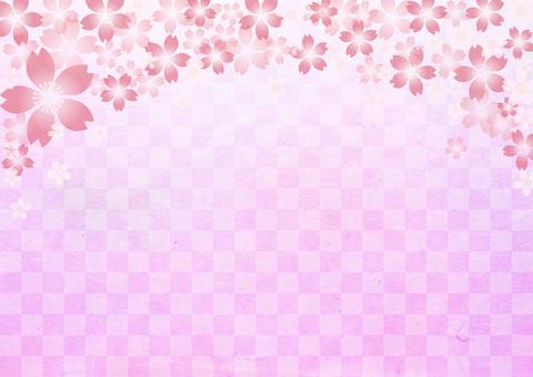桜 _ grid _ purple _ background