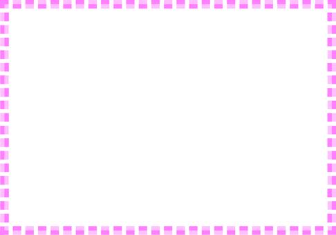 簡單的方形框架(粉紅色)