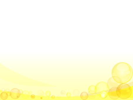 黄色シャボン玉ウェーブ