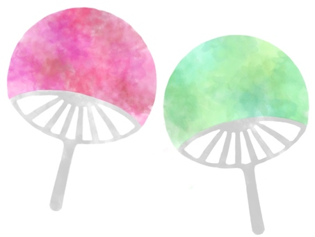 Watercolor fan set (without black frame)