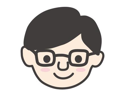 Dad face icon