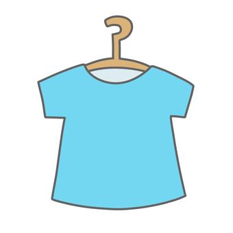 T-shirt on a hanger (blue)