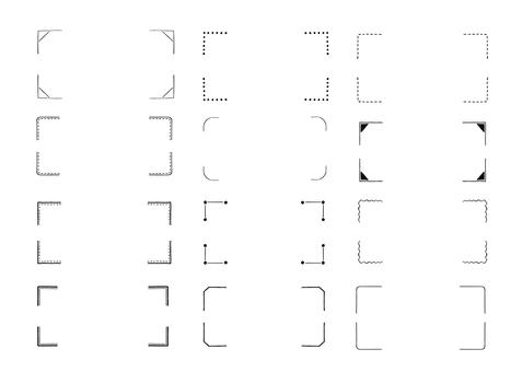 シンプルな手書きコーナー