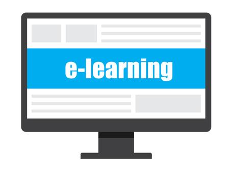 e-learningとパソコンのモニター