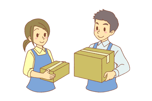 Delivery service men and women (if)