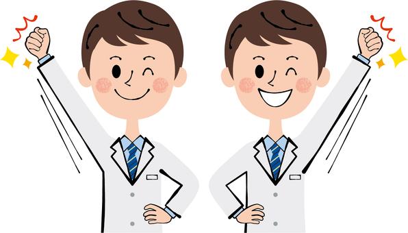 EI doctor doctor doctor male wink