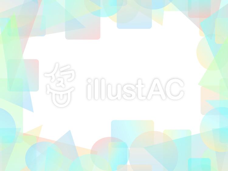 パステル調のカラフルな短形フレーム2c