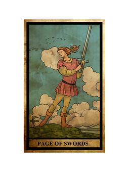 Tarot sword page