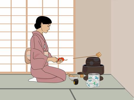 Tea ceremony tea room