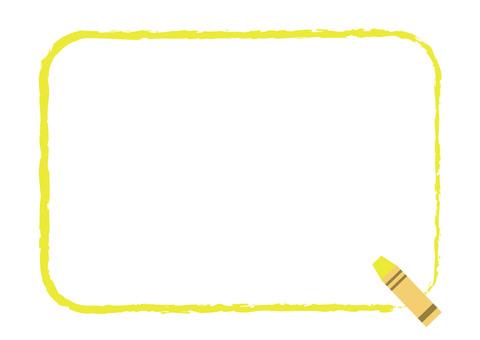 Crayon frame corner yellow