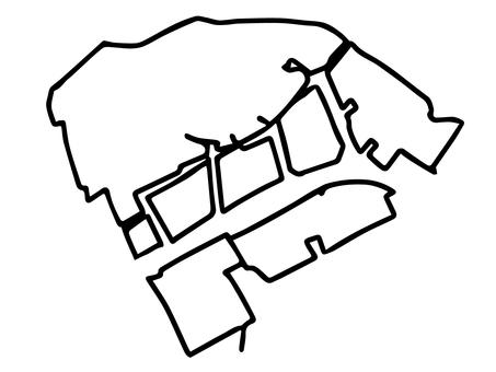 Kawasaki-ku (Kanagawa Prefecture Kawasaki City) simplified map