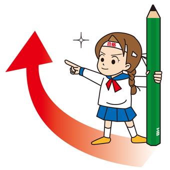 Examination girl