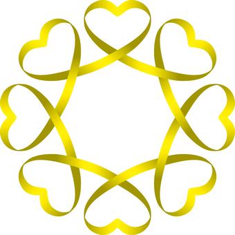 Heart _ Ribbon _ Link _ Yellow