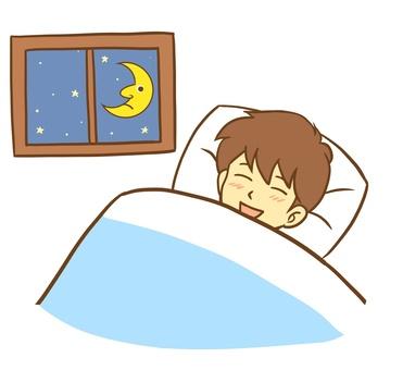 A man who sleeps with a good dream