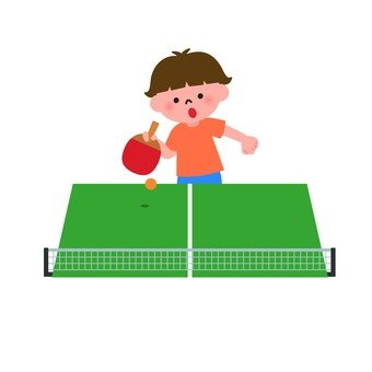 A boy who plays table tennis