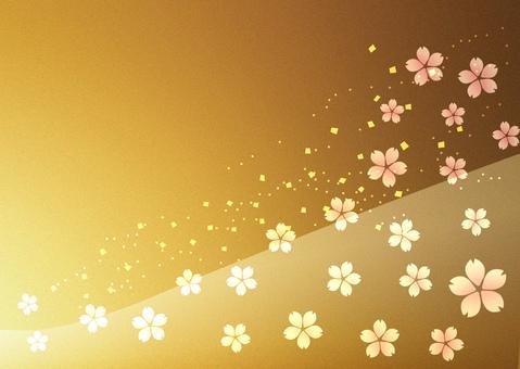 Sakura gold leaf