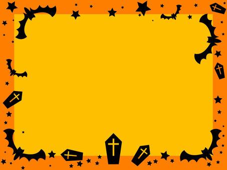 Halloween frame bat