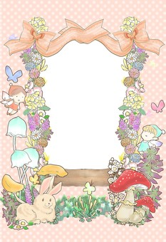 Fairy tale frame orange