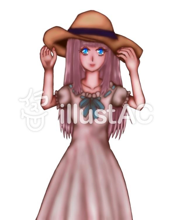 麦わら帽子の女の子イラスト No 916996無料イラストならイラストac