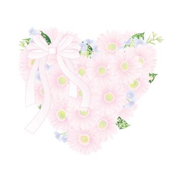 Heart bouquet made with Gerbera