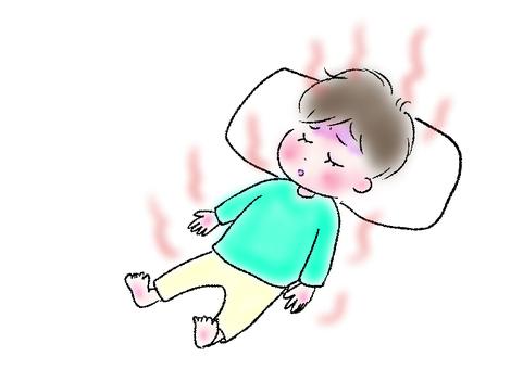 Heatstroke heatstroke child illustration
