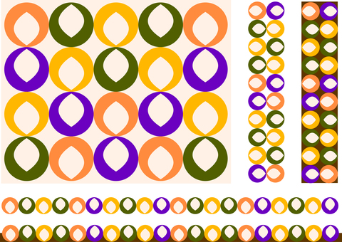 Retro pattern circle