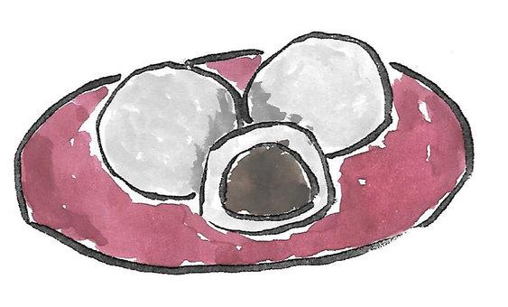 Daifuku cake (brush pen)