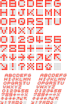 Electronic character font