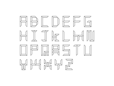 Uppercase letters like a tree