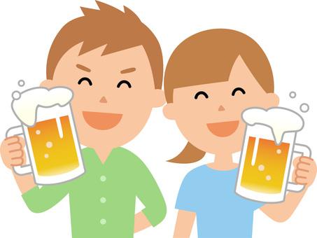 90606. 맥주 건배