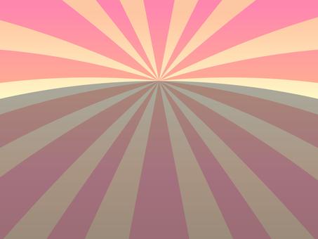 Horizontal line type radiation background (pink)