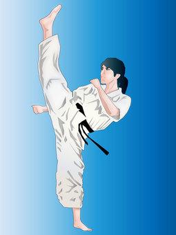 Karate girl 07