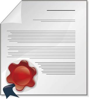 Sealing wax documents
