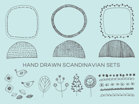 Handwritten Scandinavian material set 2
