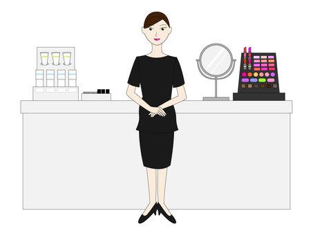 Beauty staff (black uniform)