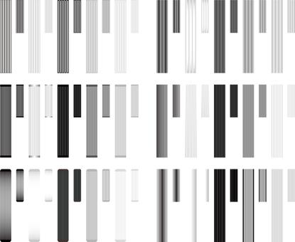 Heading frame monochrome series 3