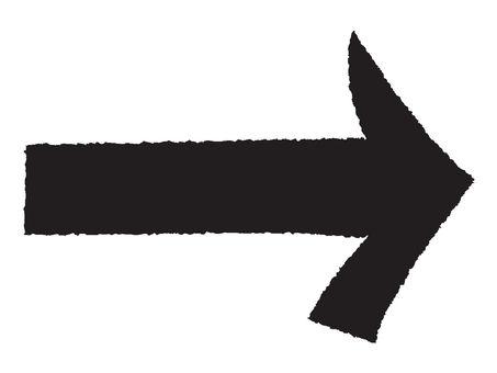 Arrow handwriting style
