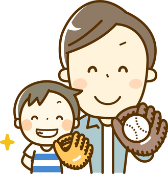 Baseball with parents