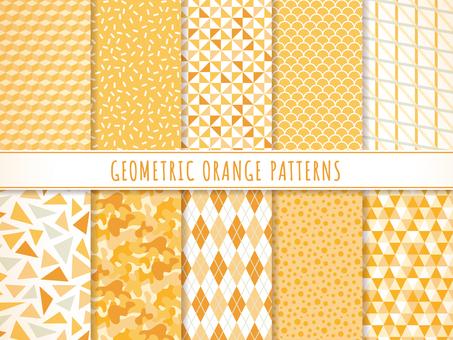 Set of geometric patterns (orange)