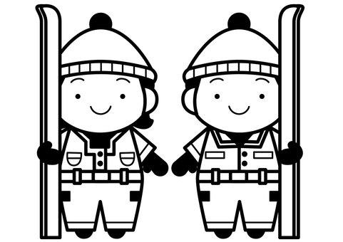 Ski couple 1c