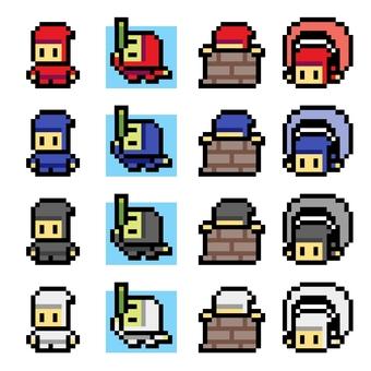 Pixel art Ninja 3 16x16