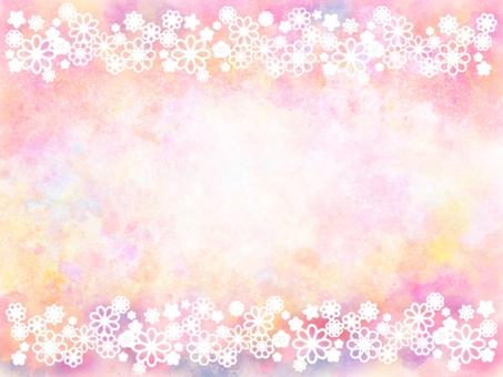 Flower frame background_white 2