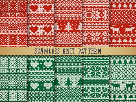 크리스마스 니트 원활한 패턴