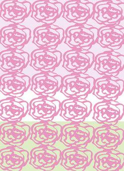 玫瑰花朵圖案粉色壁紙