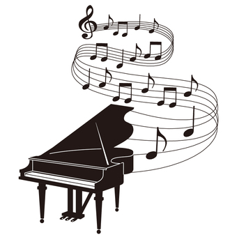 ピアノのシルエット