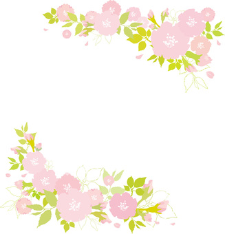 Free illustration Free material Cute cherry blossoms Sakura frame paintings
