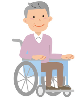 70917. Wheelchair male, one person 1